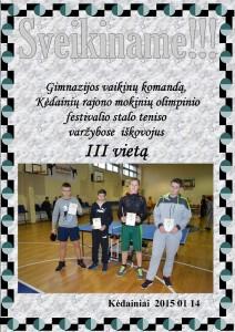 Stalo tenisas IIIv