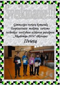 akademija 2014 II vieta