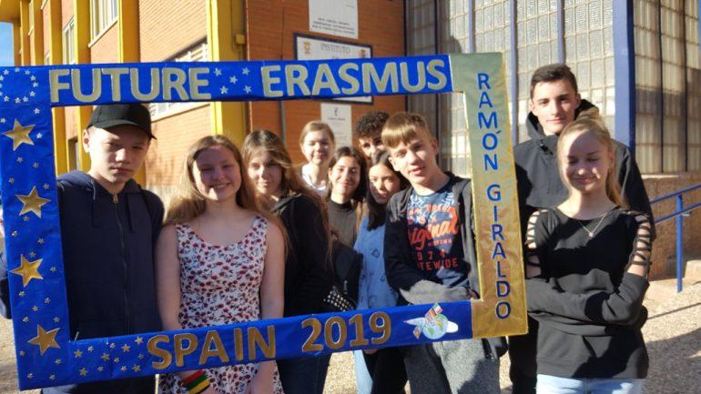 Erazmus+ mokiniai iš Lietuvos Ispanijoje.